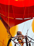 Hot Air Balloon Burner. Close-up of the double burner of a yellow and red hot air balloon Royalty Free Stock Photos