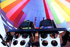 Hot air balloon burner. From inside Stock Photography