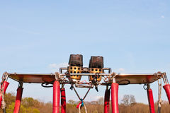 Hot air balloon burners Stock Photo