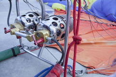 Hot-air balloon burners detail Stock Images