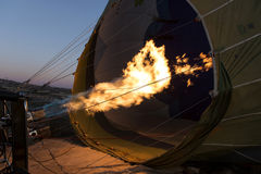 Hot air balloon burners Stock Photography