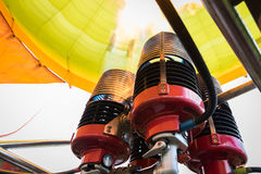Hot air balloon burners Royalty Free Stock Images
