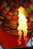 Hot Air Balloon Burning Air. Hot air balloon photographed when firing the gas Stock Photo