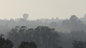 Hot Air Balloon Bushfire Haze Stock Images