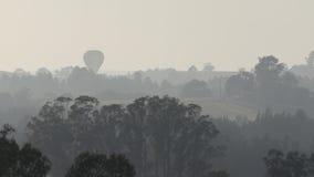 Hot Air Balloon Bushfire Haze Stock Images