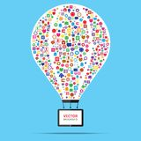 Hot air balloon business startup concept stock illustration