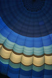 Hot air balloon canopy. In blues Stock Images