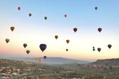 Hot-air balloon ,Cappadocia, Turkey Stock Images