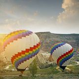 Hot air balloon in  cappadocia, turkey Royalty Free Stock Photos
