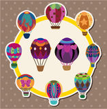 Hot air balloon card Royalty Free Stock Images