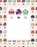 Hot air balloon card,vector illustration Royalty Free Stock Photo