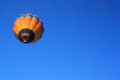 Hot air balloon with clear blue sky Royalty Free Stock Image