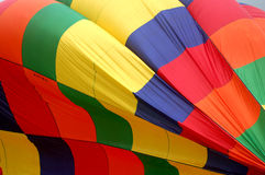 Hot Air Balloon Close Up. Side of a hot air balloon as it is inflating Royalty Free Stock Image