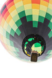 Hot air balloon. Close up of a hot air ballon in mid air in Albuquerque New Mexico stock photography