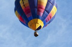 Hot-air balloon close-up from low angle stock photography