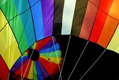 Hot Air Balloon Closeup. Closeup of hot air balloon fill the sky at the Quechee Vermont Hot Air Balloon Festival stock photos