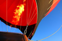 Hot Air Balloon Closeup Fire Stock Photo
