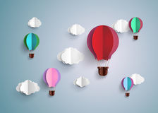 Hot air balloon and cloud Stock Image