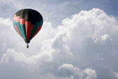 Hot Air Balloon in the Clouds, Stock Photography