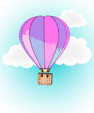 Hot Air Balloon and Clouds. Hot Air Balloon, and Clouds Stock Photo
