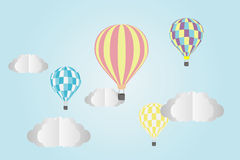 Hot Air Balloon. And Clouds Stock Images