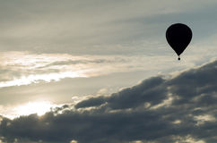 Hot air balloon in the clouds Royalty Free Stock Image