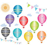Hot Air Balloon Collection. The vector for Hot Air Balloon Collection Royalty Free Stock Photography