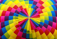 Hot air balloon color patches Stock Image