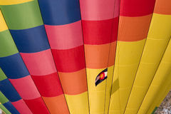 Hot air balloon with Colorado flag. A detail of colorful inflated hot air balloon with a flag of Colorado state royalty free stock images