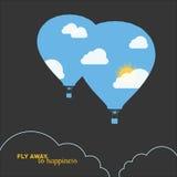 Hot air balloon, colorful abstract vector Royalty Free Stock Photography