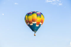Hot air balloon. Colorful Hot air balloon with blue sky background Stock Photography