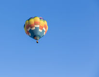 Hot air balloon. Colorful Hot air balloon with blue sky background Royalty Free Stock Photography