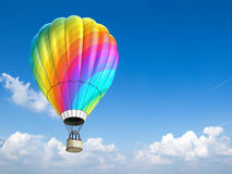 Hot air balloon. Colorful hot air balloon - 3d illustration Royalty Free Stock Photo