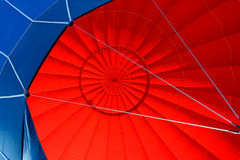 Hot air balloon. Colorful interior of the hot air balloon Stock Images