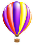 Hot air balloon colorful Royalty Free Stock Image