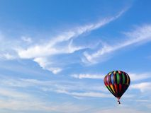 Hot air balloon. Colorful striped hot air balloon Stock Photo