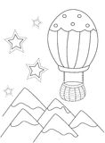 Hot-air Balloon coloring page Royalty Free Stock Image