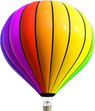 Hot Air Balloon, Colors, Isolated royalty free illustration