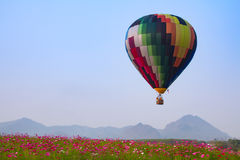 Hot air balloon colourful Stock Photography