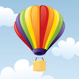 Hot Air Balloon. Colourful hot air balloon in the sky Stock Image