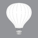 Hot Air Balloon. Contour Drawings for Color Design Royalty Free Stock Photography