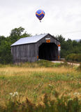 Hot air balloon covered bridge Royalty Free Stock Image