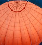 Hot air balloon cupola shell. stock image
