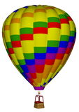 Hot air balloon - 3D render Royalty Free Stock Images
