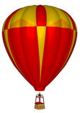 Hot air balloon - 3D render Stock Images