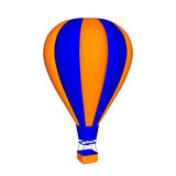 Hot air balloon. 3d Vector colorful illustration. Royalty Free Stock Images