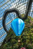 Hot Air Balloon Decoration inside an Enormous Greenhouse Stock Image