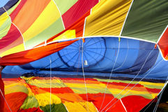 Hot air balloon deflated Royalty Free Stock Photos
