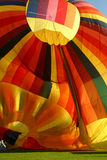Hot air balloon deflating Royalty Free Stock Photo