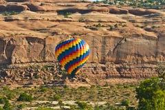 Hot Air Balloon in Desert Terrain Stock Photos